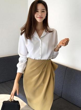 衬衫半身裙职业套装